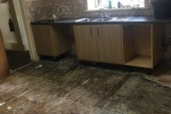 Kitchen tiles removed